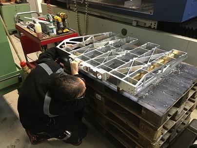 tailage dans la masse; usinage; montage; aluminium; Almec; fabrication mécanique; sous-traitance;